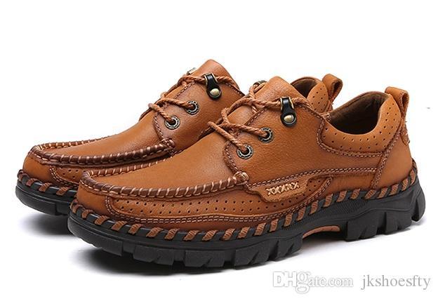 Super Luxury Designer fatto a mano in vera pelle scarpe casual da uomo, morbida e confortevole pattini di svago degli uomini, pattini di lavoro di alta qualità MCS 095