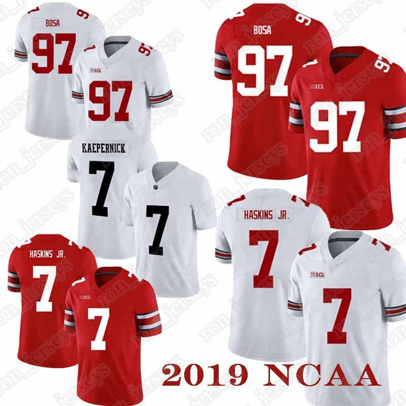 NCAA jerseys 97 Nick Bosa Jersey 7 Dwayne Haskins Jr camisetas de Ohio State Buckeyes camisa para hombre de alta calidad
