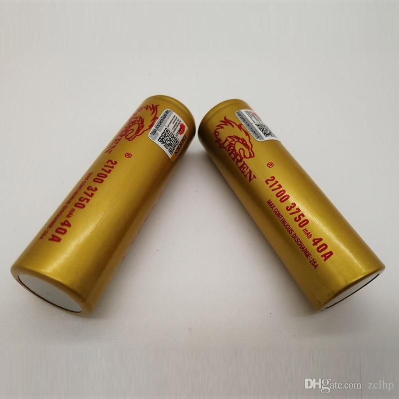 100% de Alta Qualidade IMR 21700 Bateria 3750 mAh 3.7 V 40A 18650 Baterias Recarregáveis De Bateria De Lítio Fedex Frete Grátis