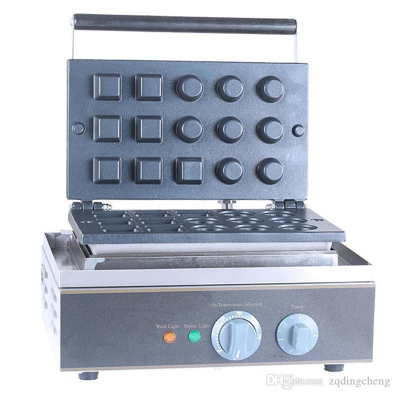 Schnelles Verschiffen Elektrische 15 Löcher Mini Egg Tart Maschine Eistüte Maker Gesamt 1500W