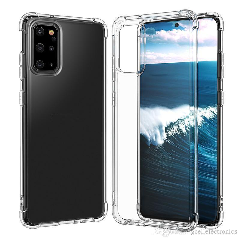 1.5mm Clear Shockproof TPU Case For Samsung Galaxy Note 20 A11 A21S S20 Iphone 11 Pro Xiaomi Mi 10 Transparent Cellphone Covers