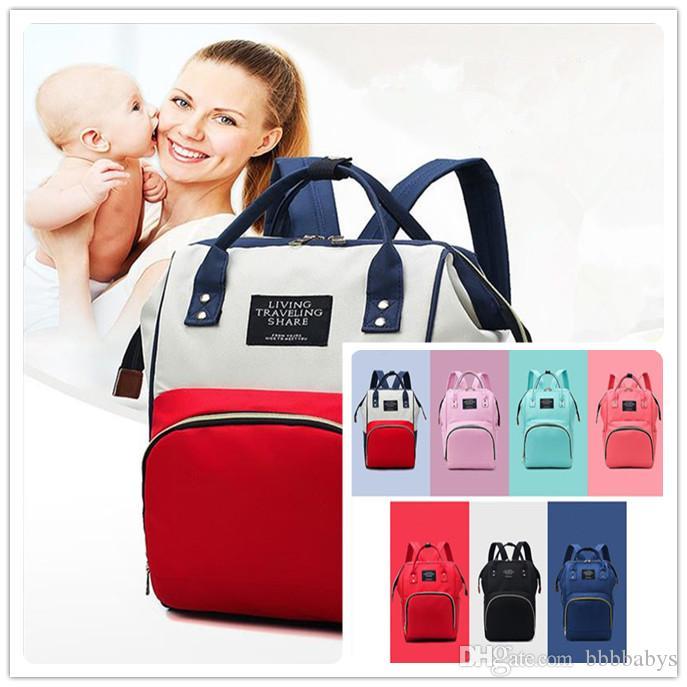 Mami capacidad grande del bolso de hombro de múltiples funciones de espera de dar a luz embarazada bolsa de mujer al por mayor de la madre y el bebé de pañales personalizada Bolsa