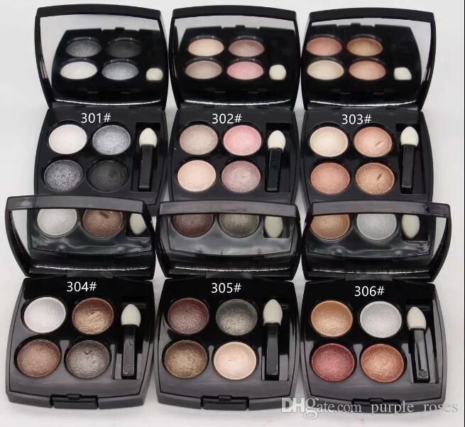 2019 Yeni Marka Makyaj Göz farı Mineralleşmemesine 4 Renk Göz Farı Paleti! 1 ADET Ücretsiz Kargo