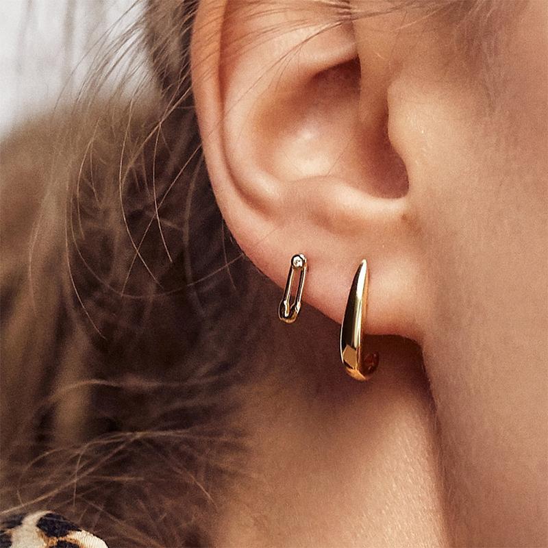 Punk or Petite Boucle d'oreille pour femmes ethnique Déclaration ronde émail Métal cristal coloré Dangle boucle d'oreille Cadeaux de bijoux de mariage