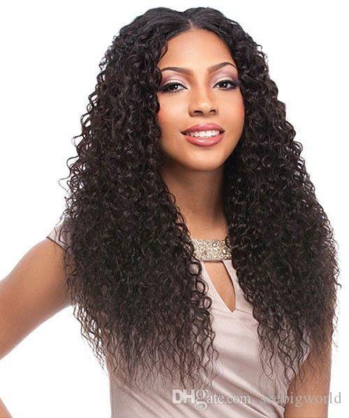 Top qualité femmes longue perruque frisée crépue African Ameri belle coiffure cheveux brésiliens simulation cheveux crépus perruque pour dame