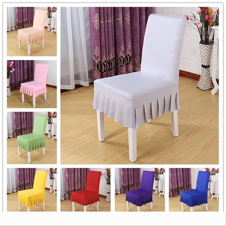 Decor Designer 16 colori Copertura della sedia corto increspato sedia gonna stretch pranzo coprisedili elastico Fodera partito banchetto di nozze per H