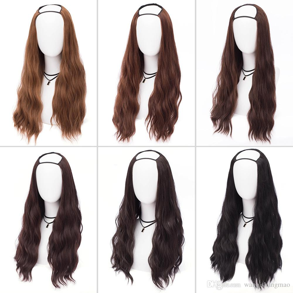 35 Colors Female Synthetic U Part Wig Long Afro Black Hair Wigs For Black Women Heat Resistant