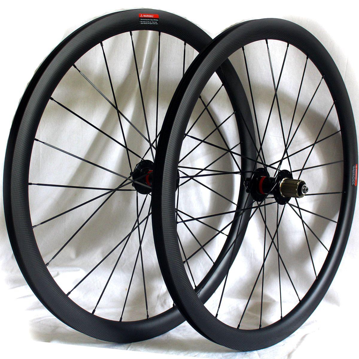 من ألياف الكربون الطريق عجلات قرص الفرامل دراجة 38MM 50MM الفاصلة 60mm أنبوبي دراجة العجلات 700C 3K مات المطلة عرض QR 25MM من خلال إصدار المحور