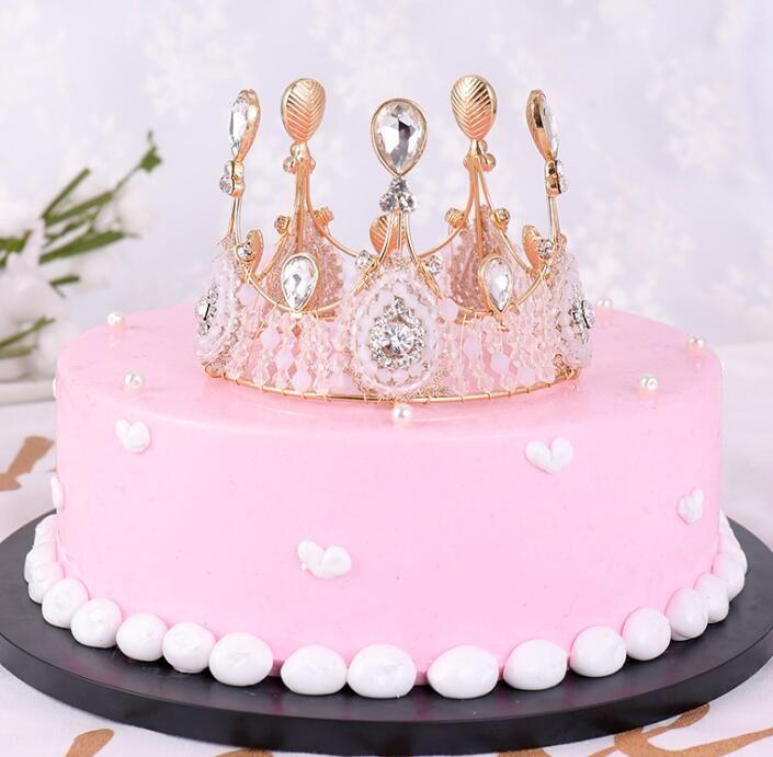 Fine Birthday Cake Crystal Tiara Cake Decoration Tiara Tiara Headdress Funny Birthday Cards Online Amentibdeldamsfinfo