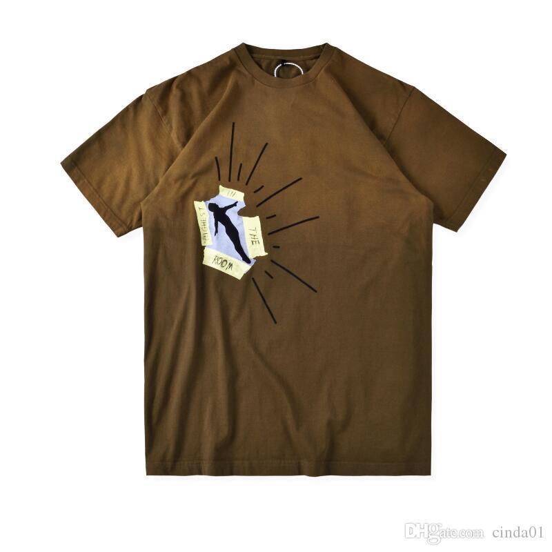 Hombre T Shirts Moda Cactus Jack Mascule