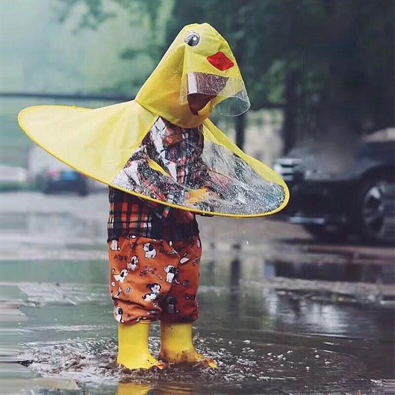 Ppxx Yellow Duck мультфильм Дети Дождевик куртка Водонепроницаемая Outfit дождевик младенца Дети пончо Плащ mkpoh