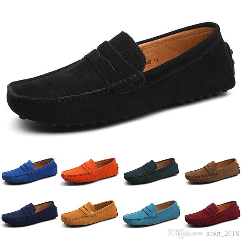 2020 Designer luxe hommes Espadrilles chaussures de toile occasionnels noir de mocassins en daim plat doux sur slip formateurs mode des hommes baskets exterieurs
