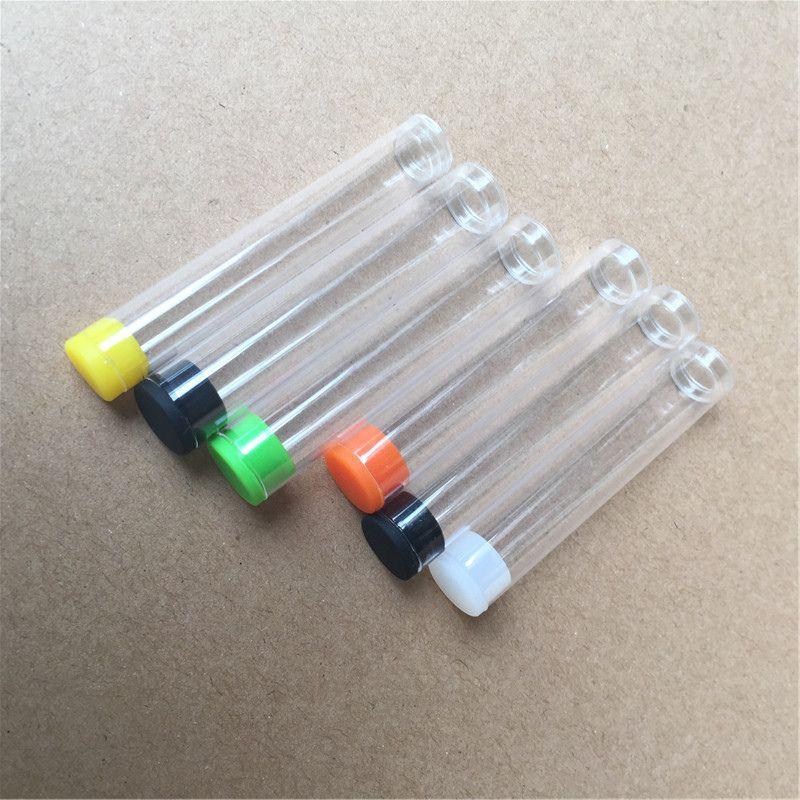 VAPE خرطوشة التعبئة والتغليف البلاستيكية الأنابيب الحاوية مع قبعات السيليكون للحصول على 0.5ml 1ML VAPE cartridgesFree DHL الشحن