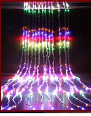 9 м * 3 м 960LED лампы течет занавес свет мигалка лампа набор свадебный водопад огни фонаря брак украшения