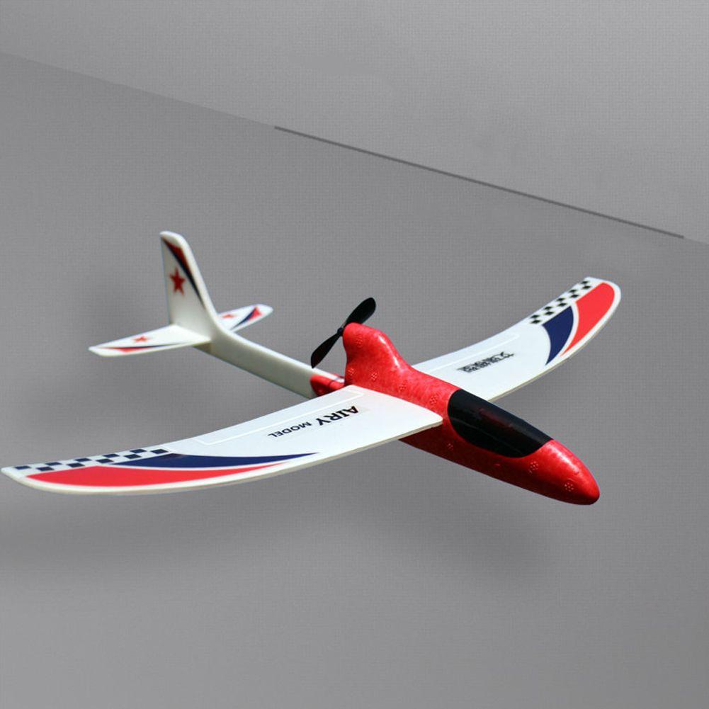 Spielzeug-Kind-Geschenk-Streamline Kondensator Hand Werfen Elektro Educational Modell Lustige DIY pubg Glider Foam RC Flugzeug