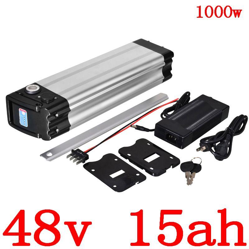 4 батареи 500W 750W 1000W Электрические батареи велосипедов 10ah 13ah 15AH литий Ebike пакет с 30A BMS + 2A зарядным устройством