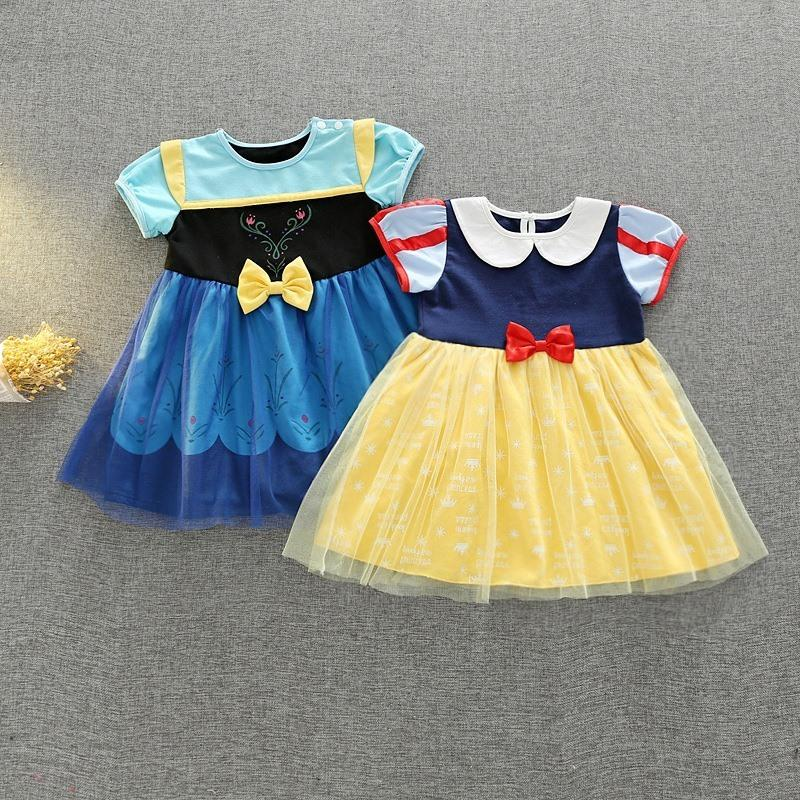Girls Dress Cute Snow White Kids Dress Baby Girls Princess Dress Ball Grown Infant Clothes Bebes Cosplay Costumes Y19061101