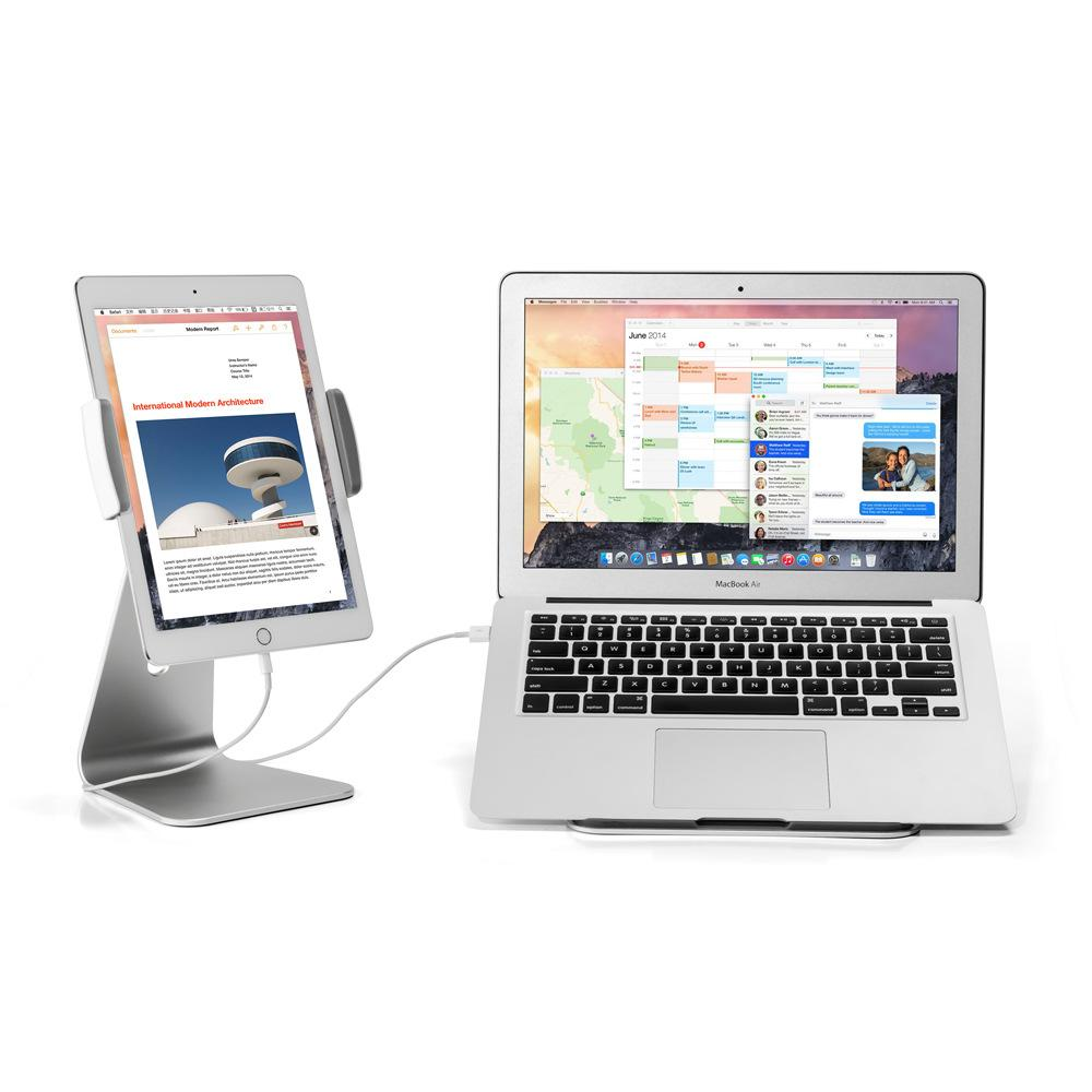 Adjustable Aluminum Full Motion 7-13inch Cell Phone Tablet PC Holder Universal Tablet Monitor Stand Pad Stand 360 Rotate 180 Tilt for iPad