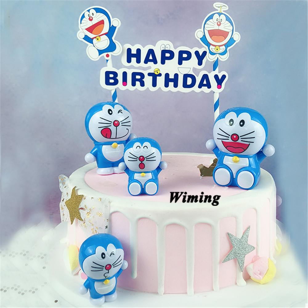doraemon cake topper kids children boys toys for birthday party gifts baby first birthday decoration cupcake toppers cat