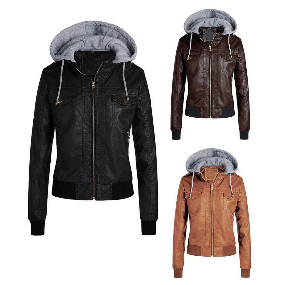 Diseñador de las mujeres chaquetas de marca más mujeres del tamaño Ropa con capucha desmontable para Sombrero chaquetas chaquetas delgadas de las mujeres de lujo