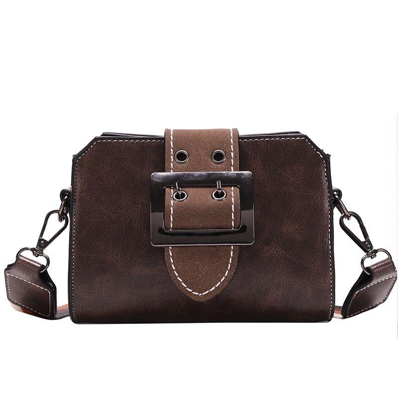Nuovo Arrivo Borse Per Le Donne Classico Stile Vintage Fashion Crossbody Bag Colore Solido Marrone Rosso Verde Nero Lady Flap