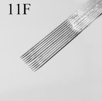 50pcs / lot 11F / 13F / 15F Tattoo-Nadeln Einweg-sortierte sterilisierte Tattoo-Nadel-Großhandel für Makeup-Werkzeuge