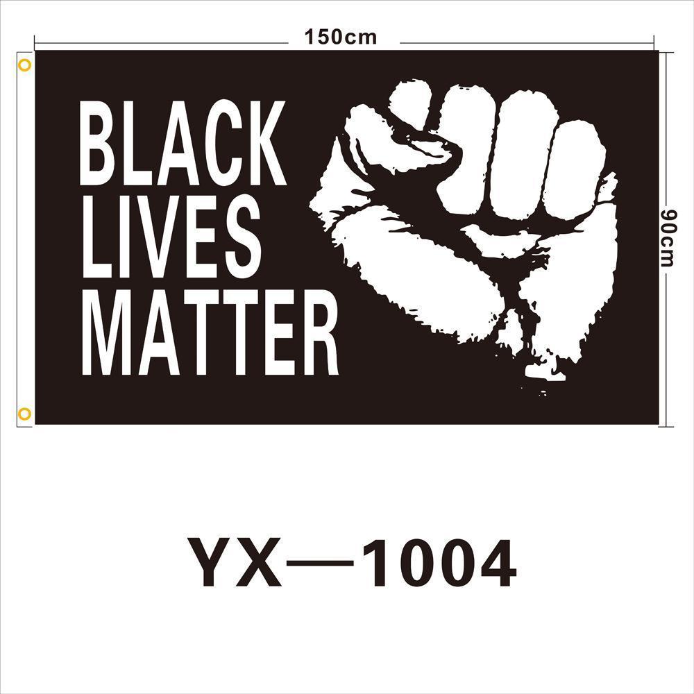 90 * 150 cm NEGRO VIDAS MATERIA bandera no puedo RESPIRAR Bandera Negro negro americano Vidas Materia Banner Banderas CCA12229 20pcs