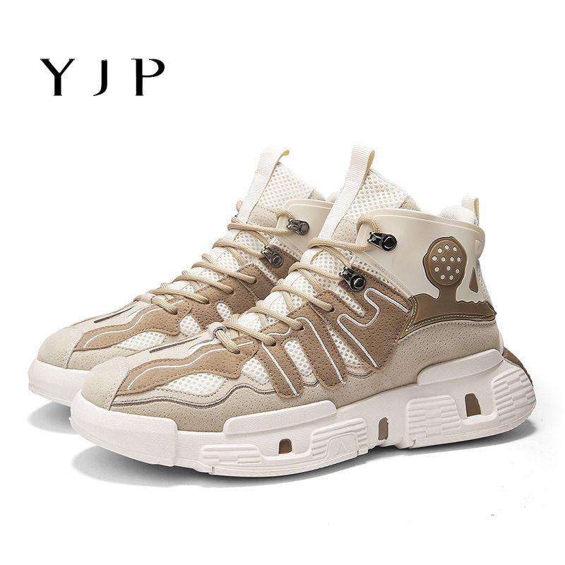 Zapatos corrientes atléticos de la cuña libre de empalme de Hip-hop YJP hombres zapatos ocasionales respirables ultraligeros zapatillas de deporte Deportes Estilo