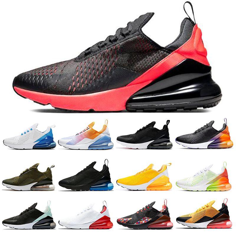 Compre Nike Air Max 270 Triple Negro Blanco Apenas Rosa Universidad Rojo  Menta Tigre De Uva Verde Para Mujer Zapatillas Deportivas Zapatillas De ...