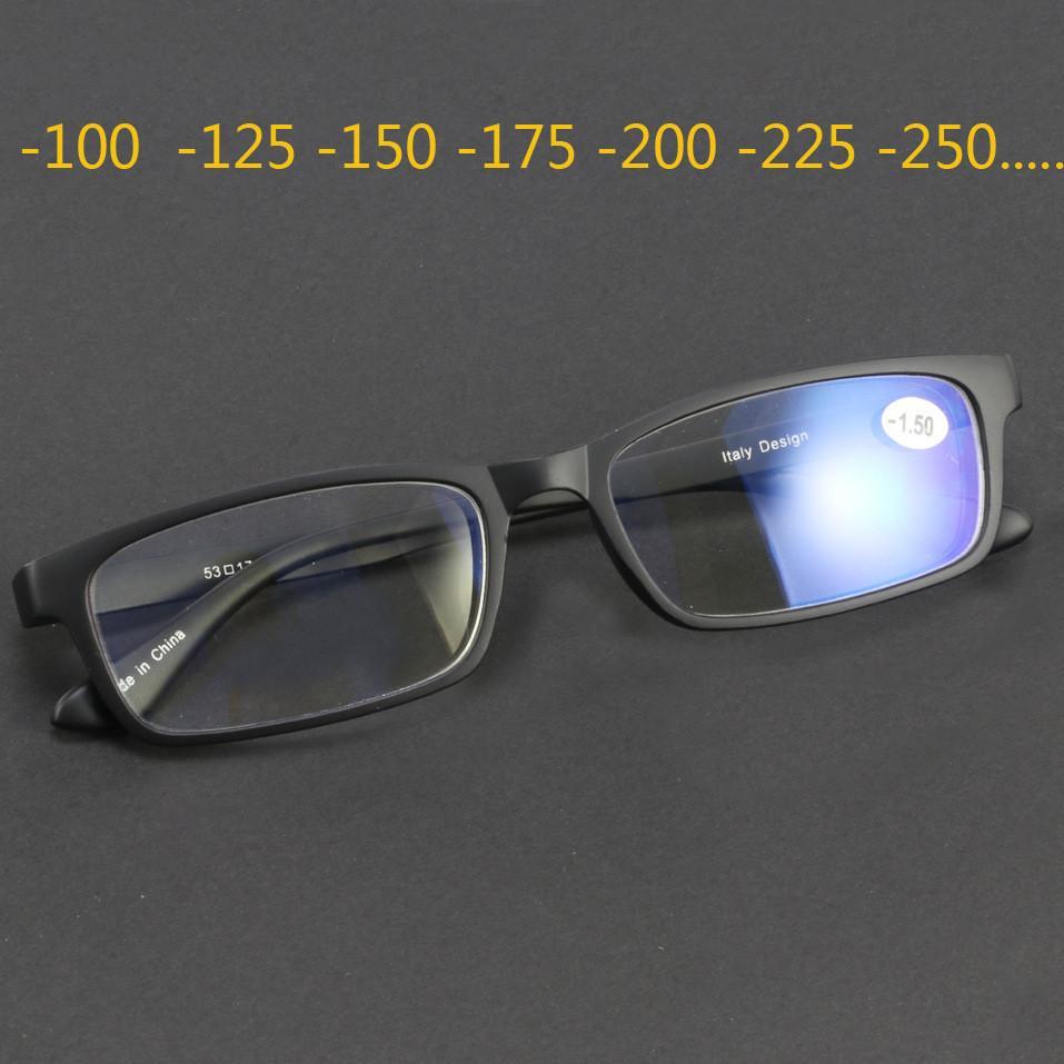 Tungsten Carbon Steel TR90-Glas-Rahmen für Frauen-Mann Finished Myopie Objektive Optische Nearsighted-1.0 -1.25-1.5-1.75 -2,0 ~ -4,2