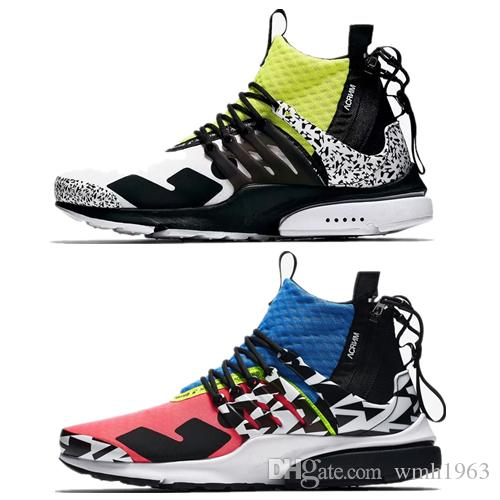 2019 New Best Presto Acronimo di Air Air MID Black Hot Lava scarpe da corsa per uomo Training Sneakers scarpe sportive taglia 7-12