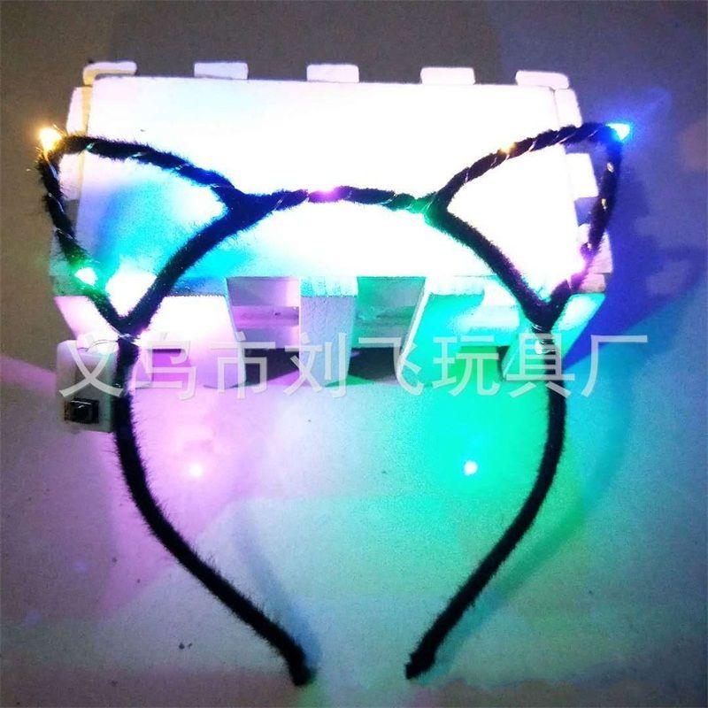 Led Light Up Toys Hair Hoop Girl Orejas de conejo Diadema Opp Embalaje Cartoon Hairs Band Vender bien con alta calidad 1 7lf J1