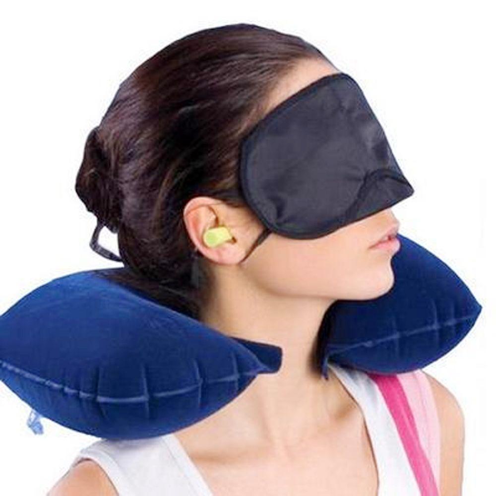 U em forma de travesseiro de viagem inflável pescoço Car Descanso para Cabeça Air Cushion para Almofada de Viagem Escritório Nap Descanso para Cabeça Air Neck Pillow