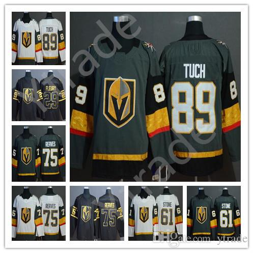 Alex Tuch 61 Mark Stone Jersey Vegas Golden Knights 2019 Golden Edition 29 Marc-Andre Fleury 75 Ryan Reaves 71 Karlsson Hockey Jersey