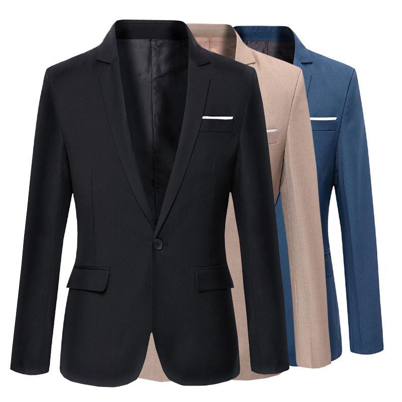 Compre Trajes De Vestir Para Hombre Chaquetas De Traje De Ropa Formal Para La Boda Chaquetas Casuales Elegantes Nuevo Algodón Masculino Chaquetas De