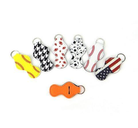 10pcs Pack Neoprene Chapstick Holder Keychain Girl Chapstick Lipstick Keychain for Sale Gift Favors Valentines Gift Christmas Wrap