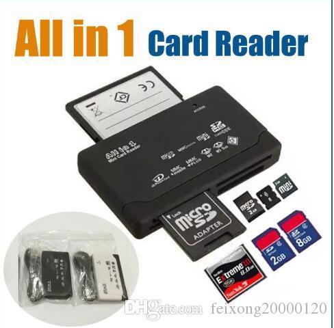 1 الكل في والمحمولة كل قارئ بطاقة في واحد صغير متعدد في 1 USB 2.0 قارئ بطاقة الذاكرة DHL