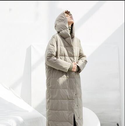 Toptan Bayan Tasarımcı Down Coat Uzun Casual Windproof Uzun ceketler Moda Kadın Kış Katı Renk Çamaşır 2 Renkler 2019