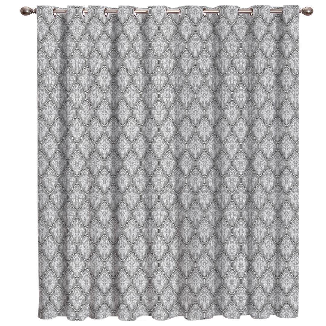 Tessuto classico barocco astratta Fiori salotto all'aperto Arredamento Bambini window Trattamento Idee tenda della finestra Pannelli tende