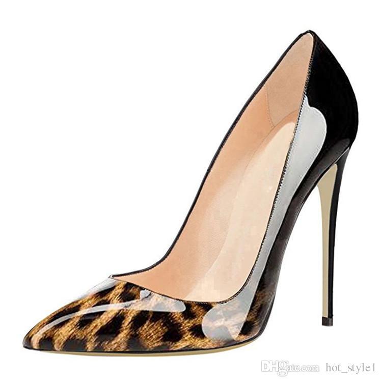 여자 지적 머리 패션 슈퍼 하이힐 숙녀 봄 가을 12cm 하이힐 T - 쇼 얕은 입 대형 섹시한 하이힐 신발