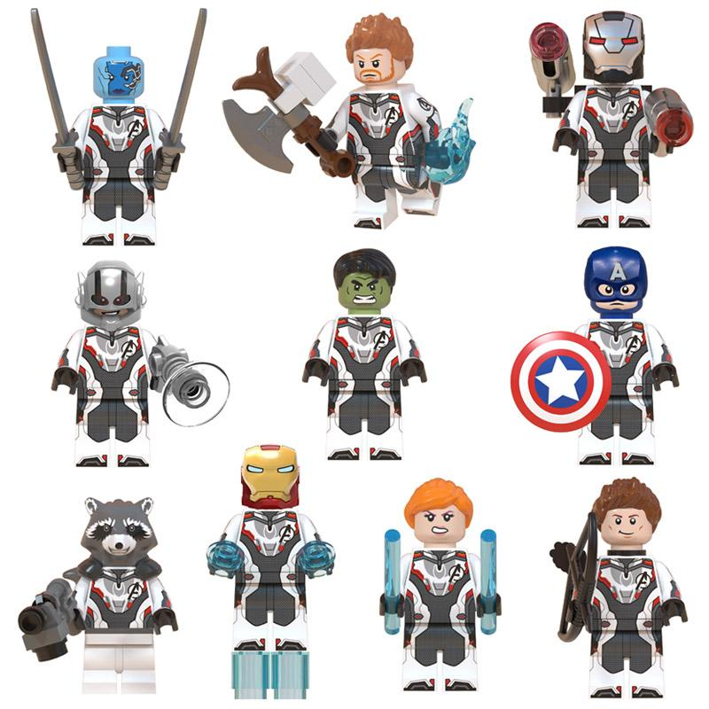 Avengers Mini Toy Figure Super Hero Superhero Thor Hulk Iron Man Captain America Figure Building Block Bricks Toy for Children