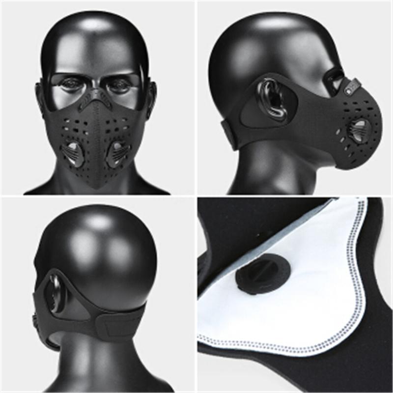 30 50 100 1PCS PM2,5 Masque 5 couche activée soins de santé anti-poussière visage bouche carbone Masque 12X8Cm # QA205