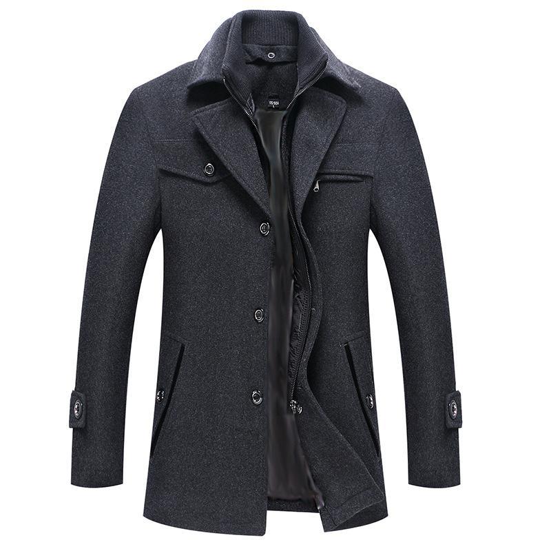 2019 Nuovo cappotto di lana invernale Giacche slim fit Giacca sportiva da uomo casual calda Capispalla Dimensione europea Dropshipping