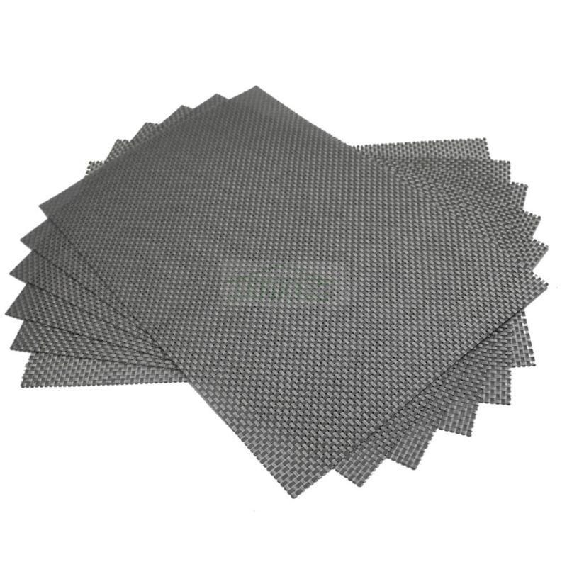 6PCS / Lot Weave Placemat de silicone PVC Mats mesa para refeições Bebida, Mesa, Secretária vinho porta-copos isolamento térmico Placemat impermeável