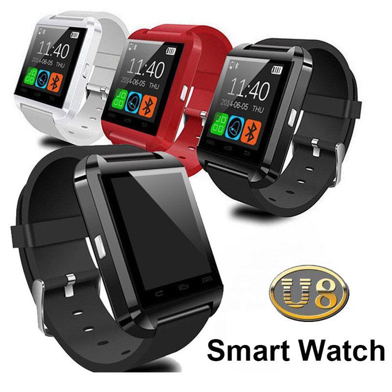 Bluetooth smart watch u8 smartwatches sem fio bluetooth tela sensível ao toque relógio de pulso inteligente com slot para cartão sim para android ios com caixa de varejo