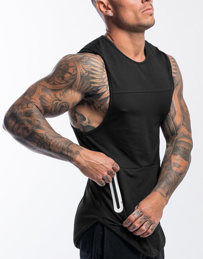اللياقة البدنية العضلات براذرز الرياضة في أوقات الفراغ الرجال تشغيل ممارسة المعدات والتجفيف السريع سترة بلا أكمام