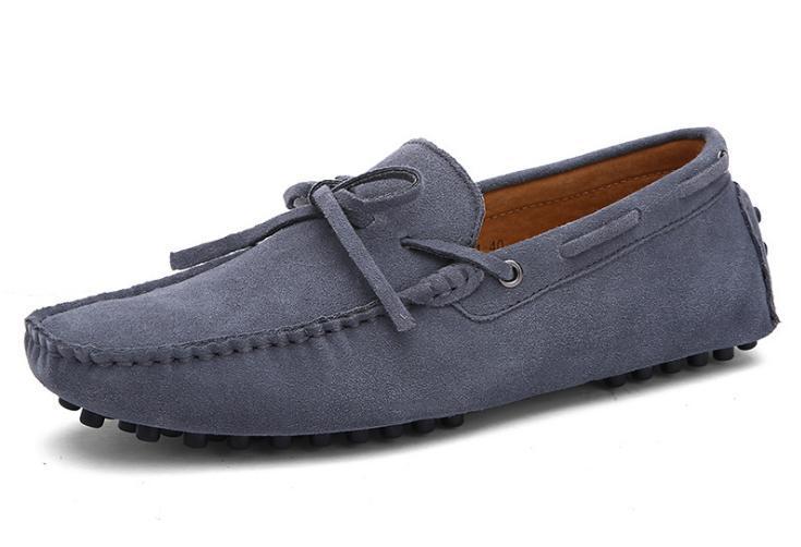 Vente chaude-Hommes chaussures en cuir véritable daim mocassins grande taille chaussures officielles dentelle ornement voyage marcher chaussure occasionnelle confort souffle chaussures pour hommes
