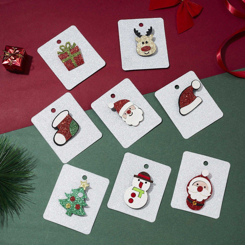 Christmas Series Christmas Hats Boots Milu Gift Box Felt Cloth Christmas Card Brooch Ornaments