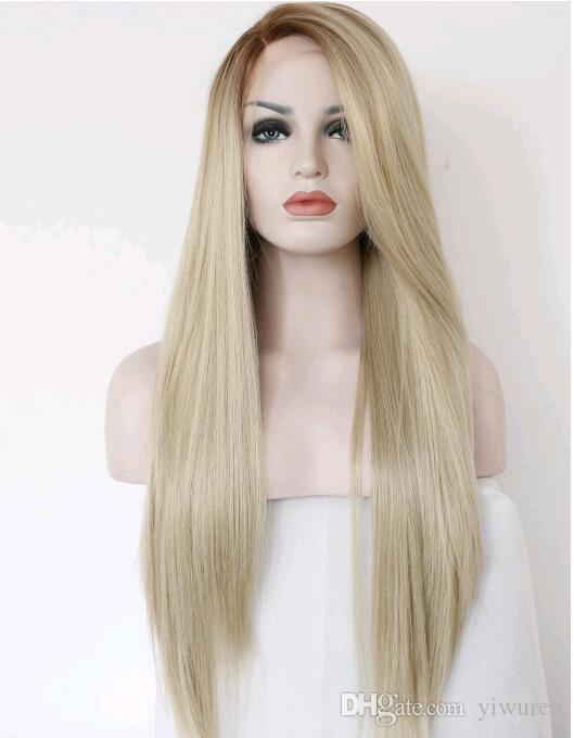 Synthetic Lace Wig For Black Women Blonde Lace Wig Long Straight Lace Wig Synthetic Hair