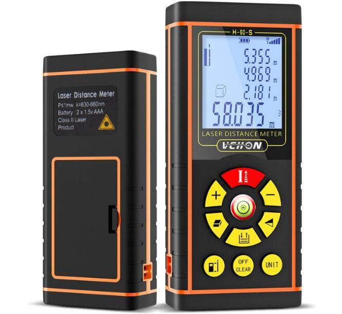 40 متر 60 متر 80 متر 100 متر 120 متر ليزر rangefinder الرقمية ليزر مسافة متر 360 درجة الموازن الصناعة هندسة الديكور المسافة كيال